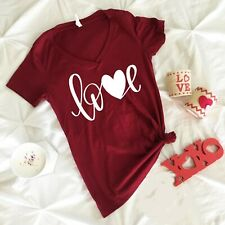 NEW! LOVE Cute Heart St. Valentines Day T-shirts Sweaters S-3XL