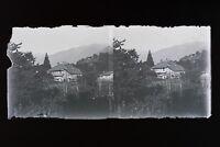 Francia Montagne Foto Stereo L6n10 Vintage Placca Da Lente Negativo