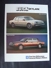 Buick 1984 Skylark Limited - Prospekt Brochure 09.1983