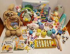 HUGE LOT Easter Toys, Stuffed Animals, Books, Baskets