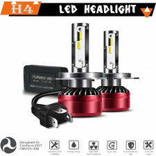 H4 LED Headlight Kit DOT Bulbs HID White Light Headlamps Conversion Kits 6000K