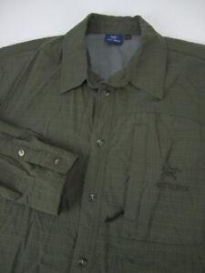 Mens Arc'teryx LS seersucker nylon green button vented shirt VTG Fits XL L