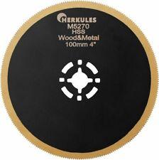 Tauchsägeblatt D 100mm flach, HSS-TIN , für Holz/ Metall, Fein Multi Master, Bos