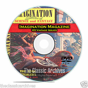 Imagination Magazine, 63 Vintage Pulp Magazine, Science Fiction DVD C67