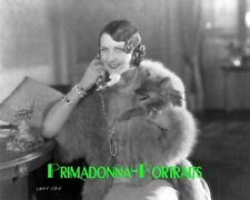 "ARLETTE MARCHAL 8x10 Lab Photo 1926 ""DIPLOMACY"" Pearls, Fur, Dog Portrait"