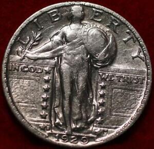 Uncirculated 1929-S San Francisco Mint Silver Standing Liberty Quarter