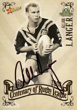 2008 NRL CENTENARY OF RUGBY LEAGUE SIGNATURE TRADING CARD - ALLAN LANGER