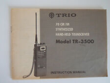 KENWOOD (TRIO) TR-3500 (GENUINE INSTRUCTION MANUAL ONLY)..RADIO_TRADER_IRELAND.