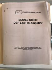 Model Sr830 Dsp Lock-In Amplifier Stanford Research Systems Manual