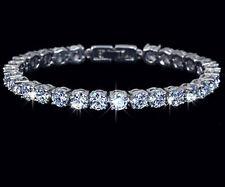 Diamond .925 Sterling Silver Tennis Bracelet 7.5 Inch