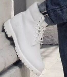 Timberland Boot Ghost White Limited Release Size 4y Women's 5.5