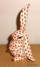 "Herend Rabbit 5325 4"" Rust Fishnet Rabbit Standing Ear Up SO1"