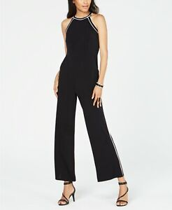 INC Contrast-Piping Halter Jumpsuit MSRP $99 Size XXL # 4NA 422 NEW