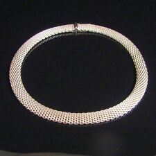 TIFFANY & CO ~ SOMERSET MESH COLLAR NECKLACE ~ MINT! HEAVY, WITH POUCH