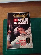 ADESIVO STICKER VINTAGE KLEBER DAVIDOFF SWISS INDOORS WORLD'S BEST TENNIS BASEL