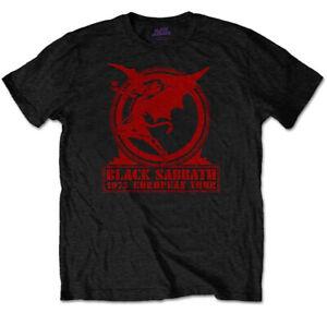 Black Sabbath 'Europe '75' (Black) T-Shirt - NEW & OFFICIAL!