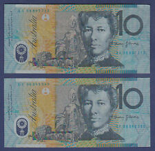 2008 Australia FIRST & LAST PREFIX $10 Ten Dollars AA08 897712 DF08 583380 =CIRC