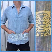 ORIGINAL VINTAGE Hawaiian LIBERTY HOUSE TIKI SHIRT Rockabilly RETRO M