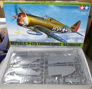"""Republic P-47D Thunderbolt """"Razorback"""" Tamiya 1/48 plastic model kit 61086"""