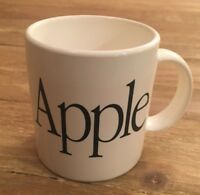 Vintage Apple Computer Coffee Mug Retro White Plastic Spell Out Cup Macintosh