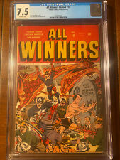 ALL WINNERS #18 1946 TIMELY CGC 7.5 OW PAGES!  SCHOMBURG COVER! HIGH GRADE NICE!