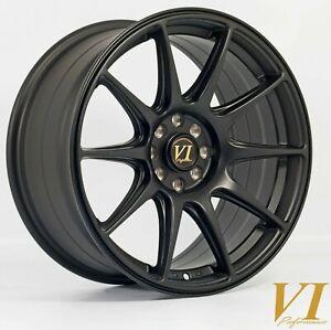 "18"" 6Performance BDR Alloy Wheels 5x100 Black fits Audi A3 Mk1 8L"