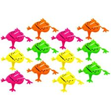 12 Plastic Jumping Frog Toys - Fun Childrens Pocket Money Toys Games Fillers