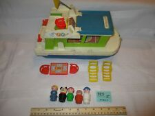 VTG Fisher Price Little People play family House Boat 985 grill boat dog mom I
