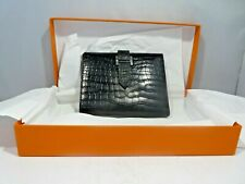 AUTHENTIC SIGNATURE HERMES ALLIGATOR WALLET WITH H CLASP