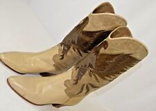 Smythe Women's Boots Size 37 Italy Western Style Jeweled Bird 7 US Party Casual
