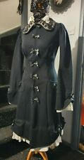 Kawaii Goth Lolita Jacket Coat with bow details, unlined, UK size 10