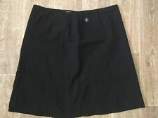 LISA HO LADIES SIZE 18 BLACK SUIT SKIRT WOOL MIX CONSEALED ZIP ~ EUC