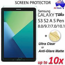 "Premium Screen Protector for Samsung Galaxy Tab A 8.0"" 2017 S3 S2 7.0 9.7 10.1"