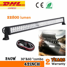 "42"" 240W LED LIGHT BAR OFFROAD DRIVING ROOF LAMP FOR JEEP SUV ATV 4X4WD 12V 24V"