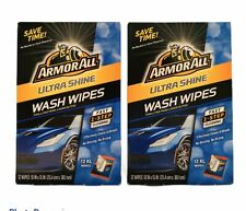2-Pack Armor All Ultra Shine Wash Wipes 12 XL Wipes Car Cleaning Wipe! NEW