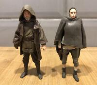 Star Wars Force Link -  Luke Skywalker Jedi Exile Figure & Rey Island Journey