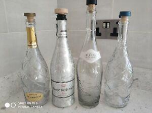 4 x Empty Spirit Bottles
