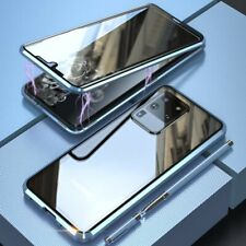 For Samsung Galaxy S20 Ultra/S20 Plus 5G Metal+Double Side Glass Magnetic Cases