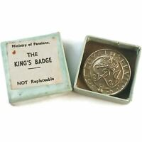 WOMENS VERSION Kings For Loyal Service Silver War Wound Lapel Badge & Box - HE70