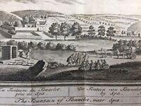 Spa La Fontaine du Tonnelet en 1784 Belgique Rare Gravure Ancienne