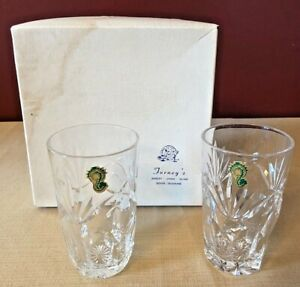 (2) Vintage 1970s/80s Waterford Glass Crystal Ireland Tumbler Glasses NEW