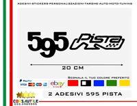 2 ADESIVI 500 595 695 PISTA COMPETIZIONE STICKER ADESIVO TUNING ELABORA AUTO