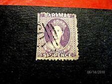 Bahamas #14c 6p lilac f-vf* used, cat 90.-