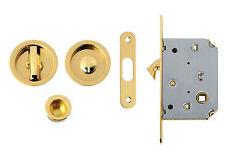 Kit maniglia serratura porte scorrevoli finitura olv lucido verniciato Comit