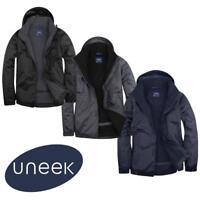 Uneek Premium Mens Outdoor Jacket Waterproof Windproof Coat-Micro Fleece Lining