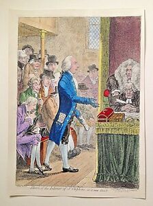"""JAMES GILLRAY """" SKETCH  OF THE INTERIOR OF ST. STEPHENS, AS IT NOW STANDS."""""""