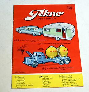 Tekno Automodell Katalog 1966  Nr. 35 , 16 Seiten geheftet 11 x 15,5 cm top