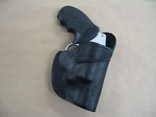 Ruger SP101 Revolver Leather 1 Slot OWB Belt Concealment Holster CCW - BLACK RH