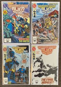 Armageddon The Alien Agenda #1,2,3,4 1991 DC Comics Complete Set Lot