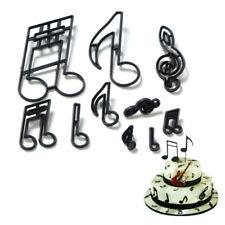 New listing 10Pcs/set Music Notes Cookie Cutter Plastic Sugarcraft Fondant Cutter Rs